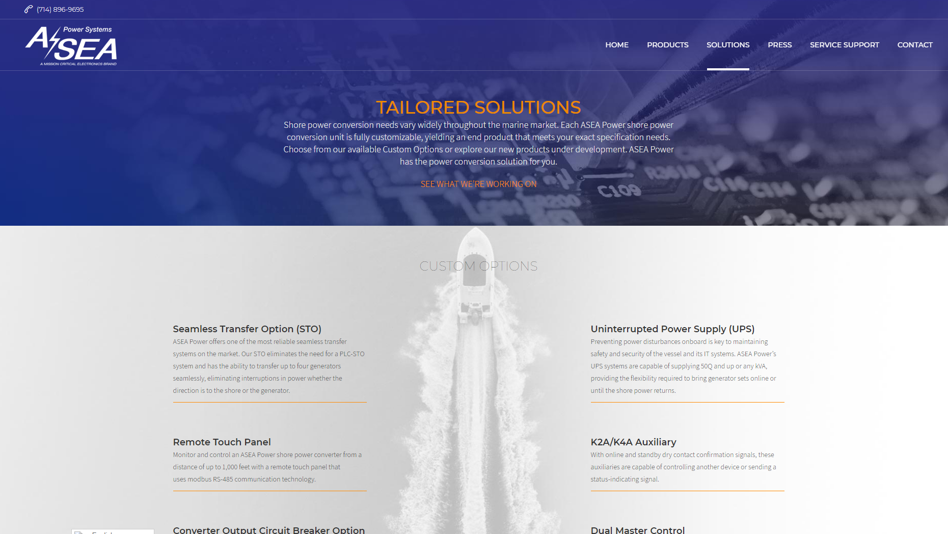 ASEA POWER SYSTEMS LAUNCHES NEW MULTILINGUAL WEBSITE